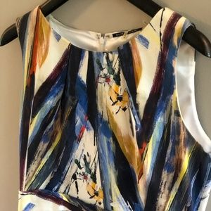 Elie Tahari sheath dress - brushstrokes